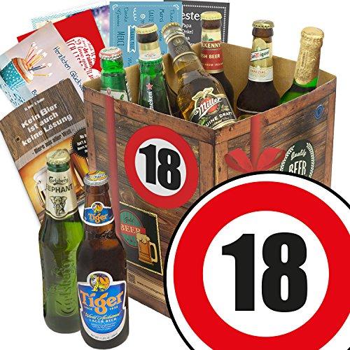 Geschenk 18. Geburtstag | Biergeschenke | Bier Box Welt | Bier Set mit 9 Bieren der Welt | GRATIS Bierbewertungsbogen und 6 Geschenkkarten | Männergeschenke 18 Männergeschenke