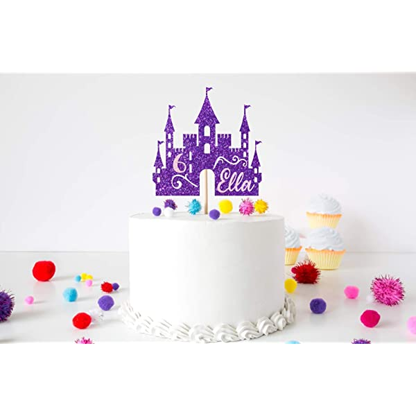 Terrific Frozen Cake Topper With Birthday Girls Name And Age Princess Personalised Birthday Cards Beptaeletsinfo