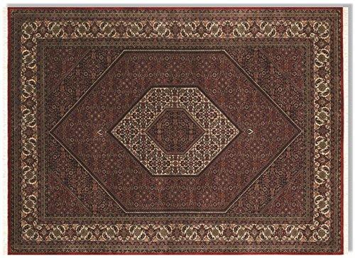 ANARAM BIDJAR echter klassischer Orientteppich handgeknüpft in rot-creme, Größe: 60x90 cm -