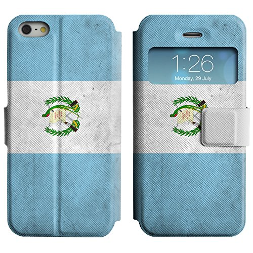 Graphic4You Vintage Uralt Flagge Von Mexiko Mexikanisch Design Leder Schützende Display-Klappe Brieftasche Hülle Case Tasche Schutzhülle für Apple iPhone 5 und 5S Guatemala Guatemalteke