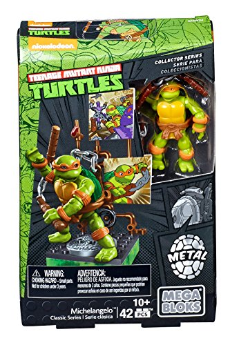 Mega Bloks - Teenage Mutant Ninja Turtles Collector Figure - Michelangelo (Dmw24) (Michaelangelo Ninja Mutant Turtles Teenage)