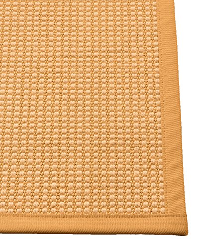 NaturalAreaRugs Sonnet Sisal Teppich, Gold, 8' x 10' (Gold Teppiche 8 X 10)