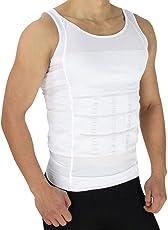 Denim Venim Slim n Lift Body Shaper Tummy Tucker Vest for Men, Colour- Black & White (Sizes - S, M, L, XL & XXL)