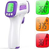 KKmier Termometro Frontale Senza Contatto, Termometro Febbre Infrarossi per Neonati, Bambini, Adulti e Oggetti, Termometro Di