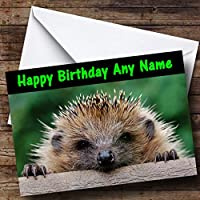 Funny Hedgehog Personalised Birthday Card