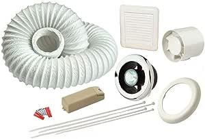 Home Garden Inline Bathroom Extractor Fan Light Kit No Light 100m3 H Condensation Shower Exhaust Fans Ventilators