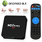 Android TV Box 8.1 Smart TV Box 2GB RAM / 16GB ROM con WLAN 2.4GHz / BT 4.0 / 3D / 1000 LAN / HD / H.265 / 4K Media Player, TV Box Android