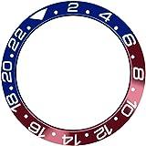 SHEAWA - Anello di ricambio per orologio Rolex GMT da 40 mm, in ceramica, con inserto in vetro