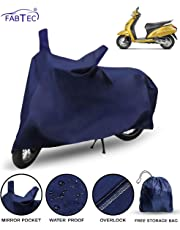 FABTEC Waterproof Scooty Cover for Honda Activa 5G with Storage Bag Combo (Navy Blue)