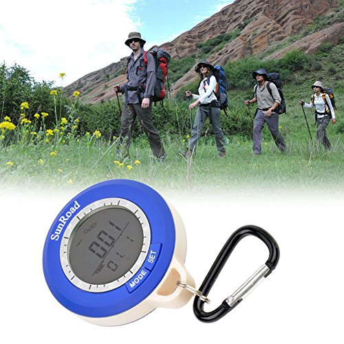 Ckeyin Mini LCD Multifunktion Digital Höhenmesser Barometer Kompass Thermometer Wettervorhersage und Zeitanzeige.