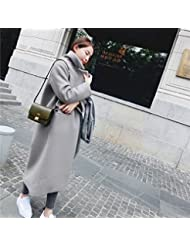 Un Nouveau Manteau D'Hiver Dans Le Manteau En Laine Laine Longue Genou Épaissi Slim
