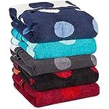 aqua-textil 10683, aqua-textil Point Saunatuch/Badetuch 80 x 200 cm Baumwolle Frottee Handtuch 0010683 rot