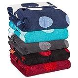 Point Saunatuch / Badetuch  viele Farben wählbar  80 x 200 cm Baumwolle Frottee Handtuch  aqua-textil 0010683 rot