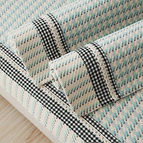 DD FWER Mediterranen Stil Baumwolle Sofa Slipcovers Haustiere ein Stück, Anti-slip-Sofa deckt pet-Schutz, Couch Abdeckungen für Haustiere Hunde - Blau 90 x 150 cm (35 x 59 Zoll)