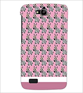 PrintDhaba Zebra Pattern D-1310 Back Case Cover for HUAWEI HONOR HOLLY (Multi-Coloured)