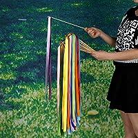 Vycloud (TM) Vendita calda colorata Nastro Magic Band con Bell per nozze Confetti bacchetta Decorazione per feste di compleanno 30pcs / pack