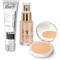 Iba Primer + Foundation + Compact Combo, Ivory Fair, 30 millilitre
