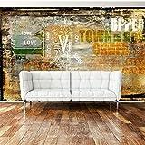 Pbldb Papel Tapiz Fotográfico Estéreo 3D Personalizado Retro Nostálgico Antiguo Muro Bar Inglés Telón De Fondo Sala De Estar Hotel Ktv Wallpaper Mural-200X140Cm