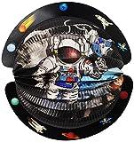 alles-meine.de GmbH 3-D Effekt _ Laterne / Lampion - Rund -  Weltraum - Astronaut & Planeten  - ..