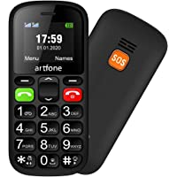 Artfone CS181 Seniorenhandy ohne Vertrag | Mobiltelefon mit großen Tasten | Dual SIM Handy mit Notruftaste | Rentner…