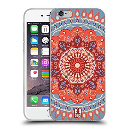 Head Case Designs Grün Kreise Mod Muster Soft Gel Hülle für Apple iPhone 5 / 5s / SE Tangeriner Zirkus