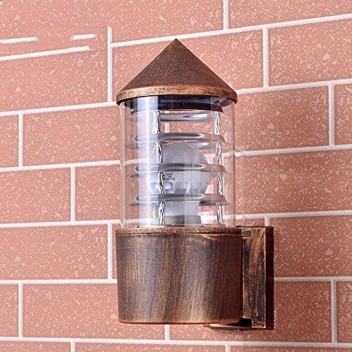LIYAN minimalistische Wandleuchte Wandleuchte E26 /E23980Balkon 楼 outdoor Wandleuchte Rohre, nobulb, Bronze - Antique Bronze Outdoor-wandleuchte