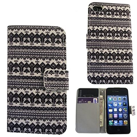 Coque Pouch flip Cover Defender ShockProof pour iPhone 4 4S Design