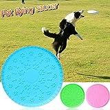 Hund Frisbee, Hund Training Spielzeug-Cyber Gummi Fliegende Untertasse Hund Frisbee Interaktives Spielzeug, geeignet, für alle PET Hunde,von Tie langxian (L)