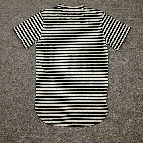 ETASSO Herren Jungen Streifen T Shirt Baumwolle Kurzarm Shirt Lang Streifen