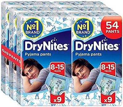 Huggies DryNites - Pyjama Pants - Pañales para niños (8 - 15 años) - 54 Pañales (pack de 2 x 27 unidades)