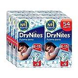 Huggies DryNites Jungen Pyjama-Hosen, für 8-15 Jahre, 6 x 9 Stück (insgesamt 54 Stück)