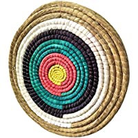 Tophunt Zielscheibe Bogenschießen Traditionelles Strohzielscheibe Durchmesser 50 cm für im Freiensport-Bogenschießen-Bogen und Schießdart