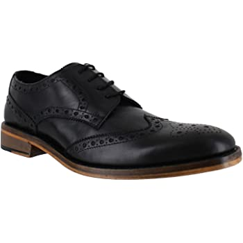 Catesby SURREY Mens Black Formal Goodyear Welted Lace Up Wingtip Brogues Shoes