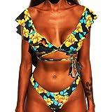 CheChury Mujer Sexy Conjunto De Bikini 2020 Verano Sexy Push Up Ropa De Playa Bikini de Triángulo Bikini Mujer Acolchado Traj