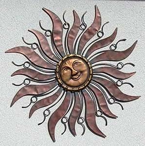 Wandh nger wandschmuck sonne aus metall 96 cm for Wandschmuck aus metall