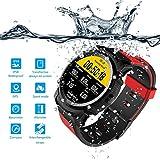 Montre intelligente FS08 étanche / montre de natation / avec fonction GPS, suivi de la fréquence cardiaque, écran tactile, Bluetooth 4.0, compas, et altimètre, unisexe, compatible avec iOS et Android