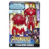 Hasbro Avengers E0606100 - Marvel Titan Hero Iron Man Actionfigur, mit Power FX Pack, dt. Version