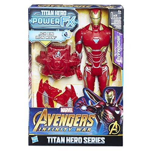 6100 - Marvel Titan Hero Iron Man Actionfigur, mit Power FX Pack, dt. Version (Iron Man-power)