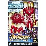 Hasbro Avengers E0606100 - Marvel Titan Hero Iron Man Actionfigur, mit Power FX Pack, dt. Version