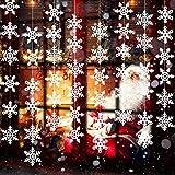 Boao 8 Packung Weiße Weihnachten Schneeflocke Ornamente Dekorationen Schnur Funkelnd Gefälschte Schnee Wandtattoos für Gefrorene Geburtstag Party Supplies Winter Wonderland Dekorationen