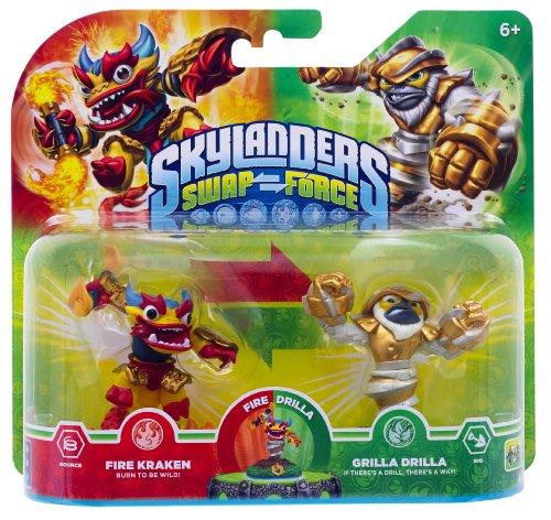Skylanders Swap Force - Double Pack 4 - Grilla Drilla, Fire Kraken (exklusiv bei Amazon.de)