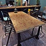 HANMERO® Papel pintado autoadhesivo imitación madera para muebles vinilos pegatinas de pared para Cocina / escritorio /puerta/armario, color amarillo oscuro