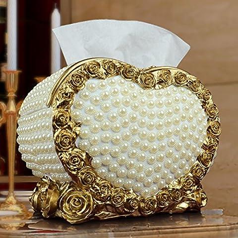 YUENLONG Continental home creativo artigianale vassoio di aspirazione della cartuccia di ammettere soggiorno ornamenti heart-shaped box
