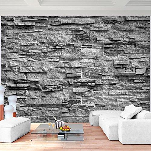 ... Fototapete Steinwand 3D Effekt Grau Vlies Wand Tapete Wohnzimmer  Schlafzimmer Büro Flur Dekoration Wandbilder XXL Moderne