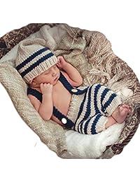 Main Tricot Tenues Bébé La photographie Accessoires Crochet Chapeaux Un pantaloon