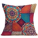 LMMVP-Home Cushion Covers,LMMVP Fashion Bohemian Pattern Throw Pillow Cover Car Cushion Cover Pillow Case Home Decor (E)