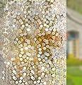 rabbitgoo Anti-UV 3D statisch haftend Fensterfolie Dekofolie Sichtschutzfolie Fensterschutzfolie-Kreise Muster von GLOBEGOU WZ CO.,LTD bei TapetenShop