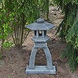 gartendekoparadies.de Massive japansiche Steinlaterne Kotoji Yukimi Farbe antik aus Steinguss...