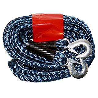 AUTONIK 122020 Towing rope 5t, zipperbag 3,5 m, with hook-random color