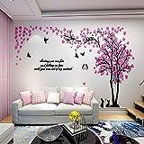 Colorfulworld Giant Tree Wandaufkleber Wall Stickers 3D Baum Wandaufkleber Art Home Decals for Room Decoration DIY Wall Sticker (Pink, XL)
